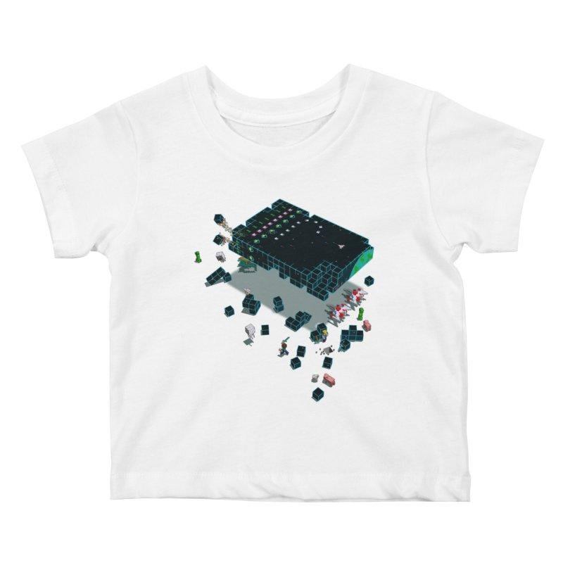 Galaga Craft Kids Baby T-Shirt by tristan's Artist Shop
