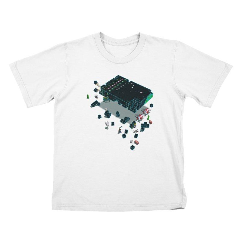 Galaga Craft Kids Toddler T-Shirt by Deep Space Designs