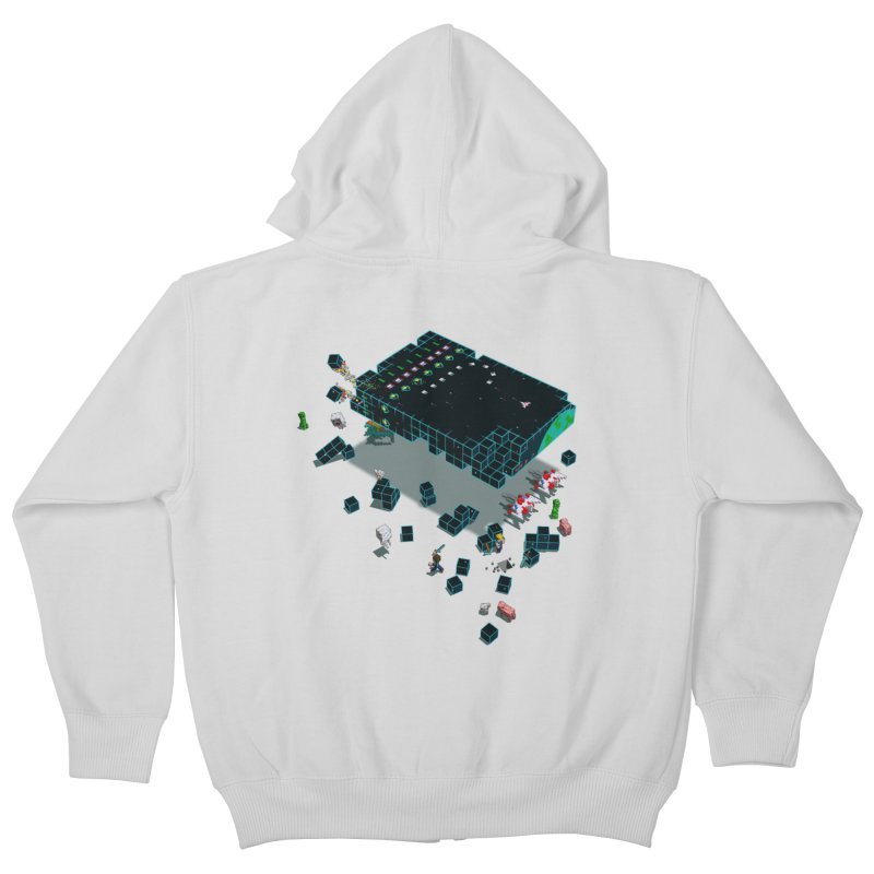 Galaga Craft Kids Zip-Up Hoody by tristan's Artist Shop