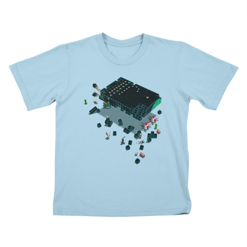 Galaga Craft Kids T-shirt by tristan's Artist Shop