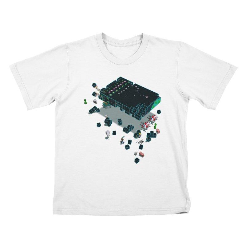 Galaga Craft Kids T-shirt by tristan's Artist Shop