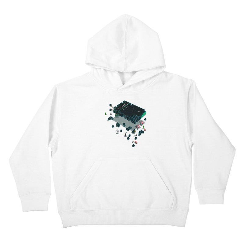 Galaga Craft Kids Pullover Hoody by tristan's Artist Shop