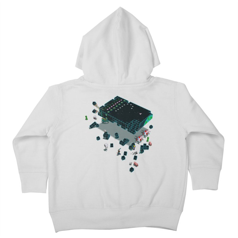 Galaga Craft Kids Toddler Zip-Up Hoody by Deep Space Designs