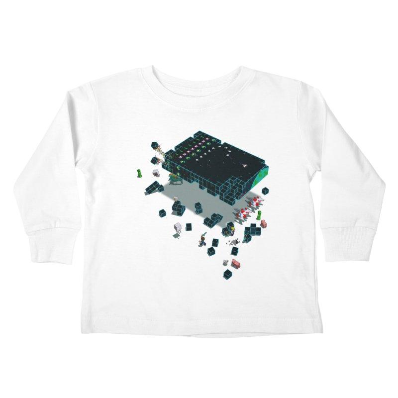 Galaga Craft Kids Toddler Longsleeve T-Shirt by tristan's Artist Shop