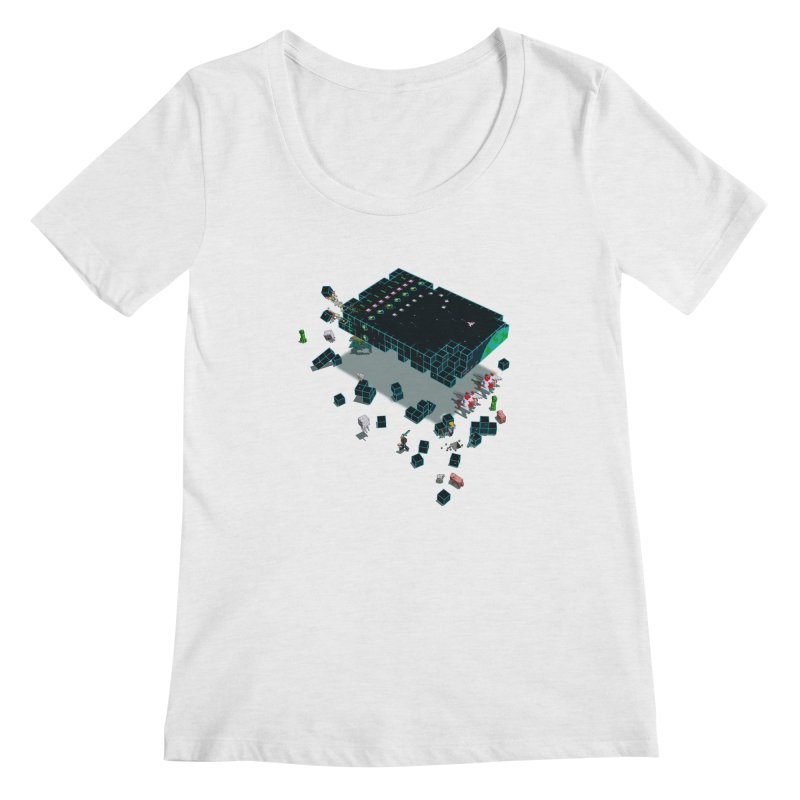 Galaga Craft Women's Scoopneck by Deep Space Designs