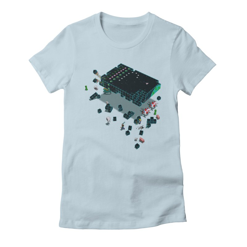 Galaga Craft Women's Fitted T-Shirt by tristan's Artist Shop