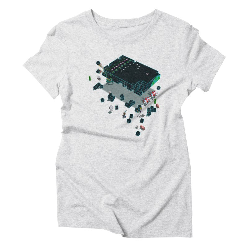 Galaga Craft Women's Triblend T-shirt by tristan's Artist Shop