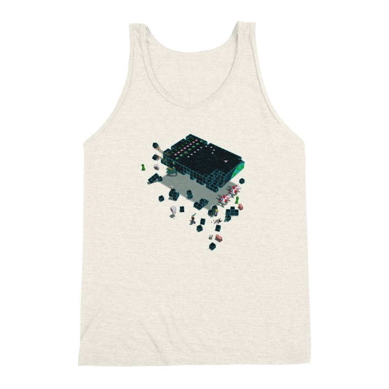 Galaga Craft Men's Triblend Tank by tristan's Artist Shop
