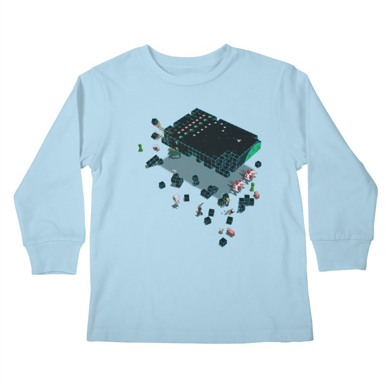 Galaga Craft Kids Longsleeve T-Shirt by tristan's Artist Shop