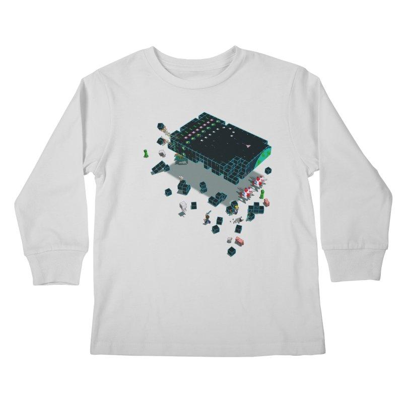 Galaga Craft Kids Longsleeve T-Shirt by tristan's Artist Shop