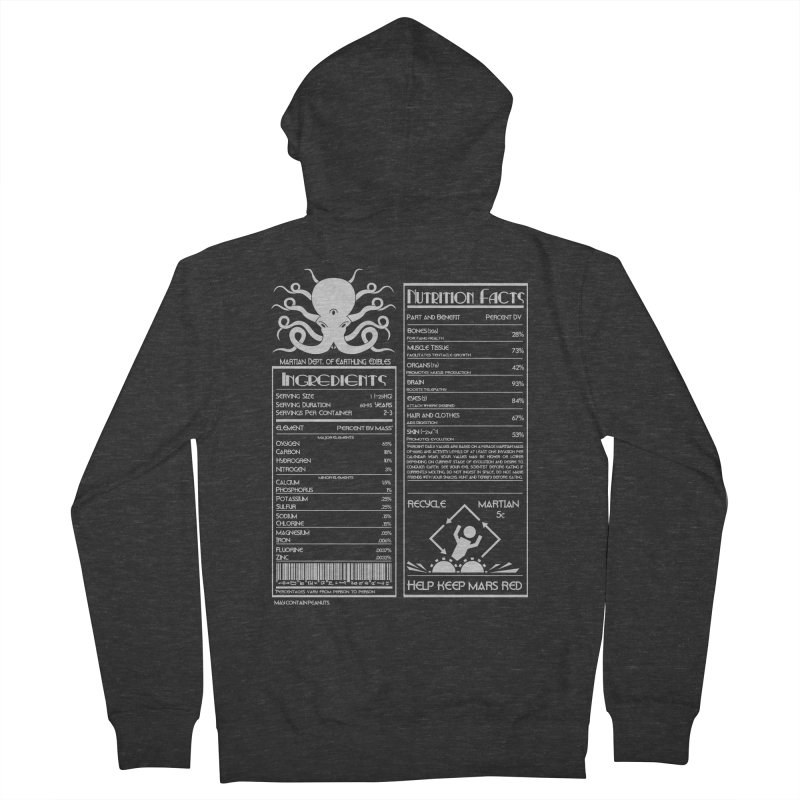 Human Ingredients Men's Zip-Up Hoody by tristan's Artist Shop