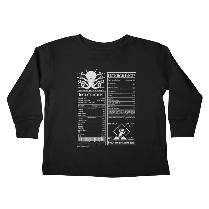 Human Ingredients Kids Toddler Longsleeve T-Shirt by tristan's Artist Shop