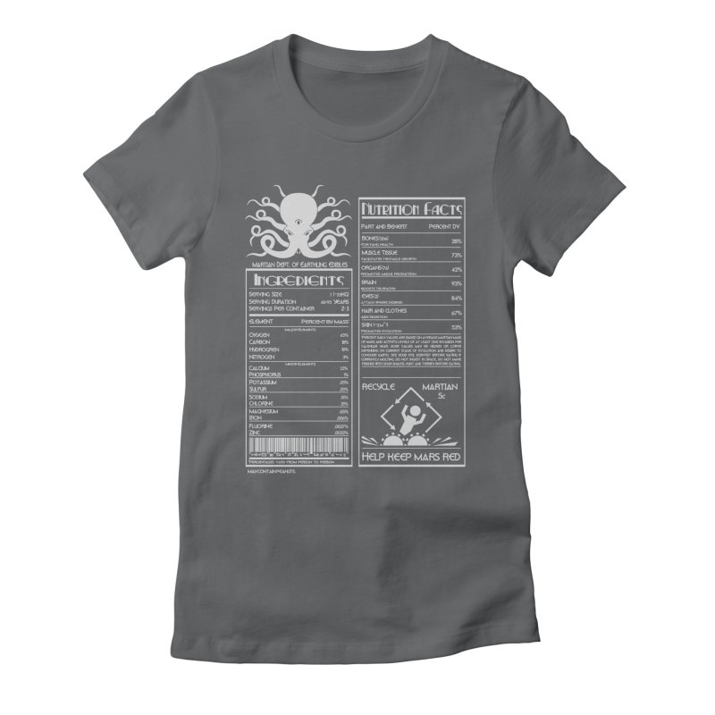 Human Ingredients Women's Fitted T-Shirt by tristan's Artist Shop