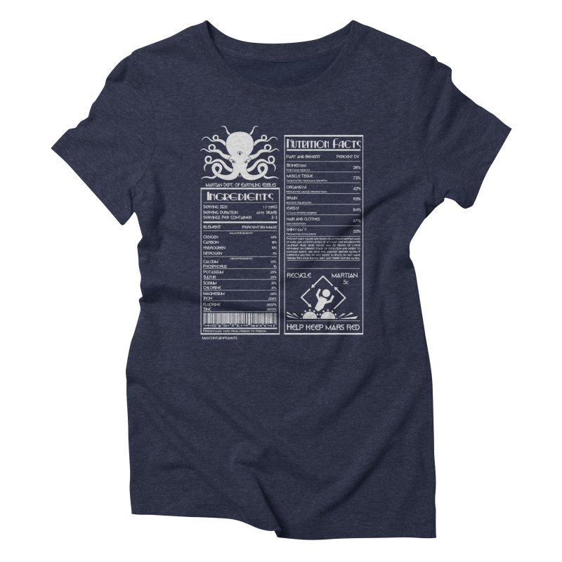 Human Ingredients Women's Triblend T-shirt by tristan's Artist Shop