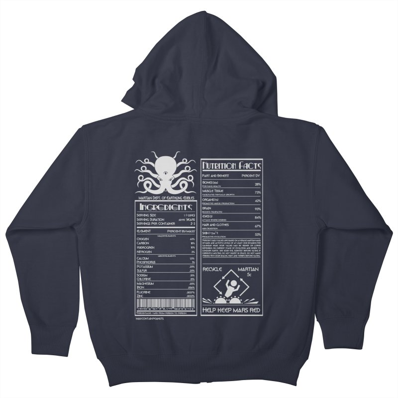 Human Ingredients Kids Zip-Up Hoody by tristan's Artist Shop