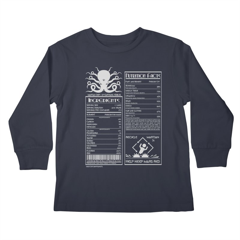 Human Ingredients Kids Longsleeve T-Shirt by tristan's Artist Shop