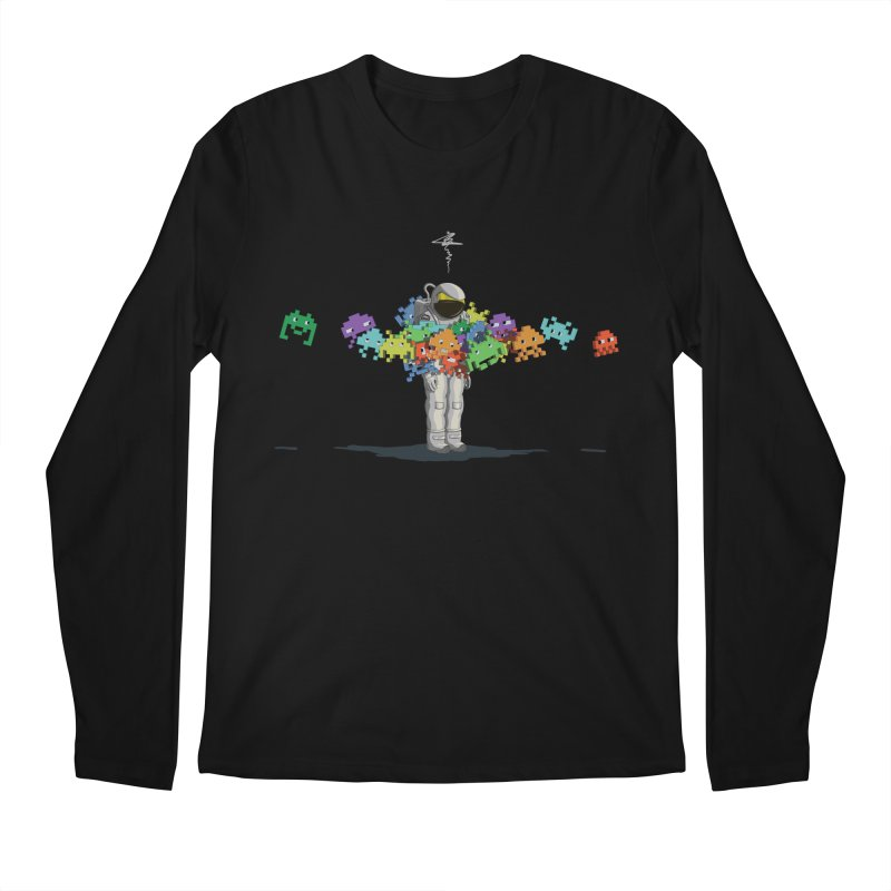 Personal Space Invaders Men's Longsleeve T-Shirt by tristan's Artist Shop