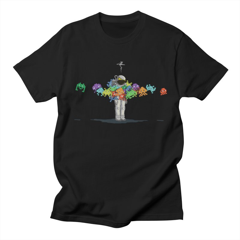 Personal Space Invaders in Men's T-shirt Black by tristan's Artist Shop