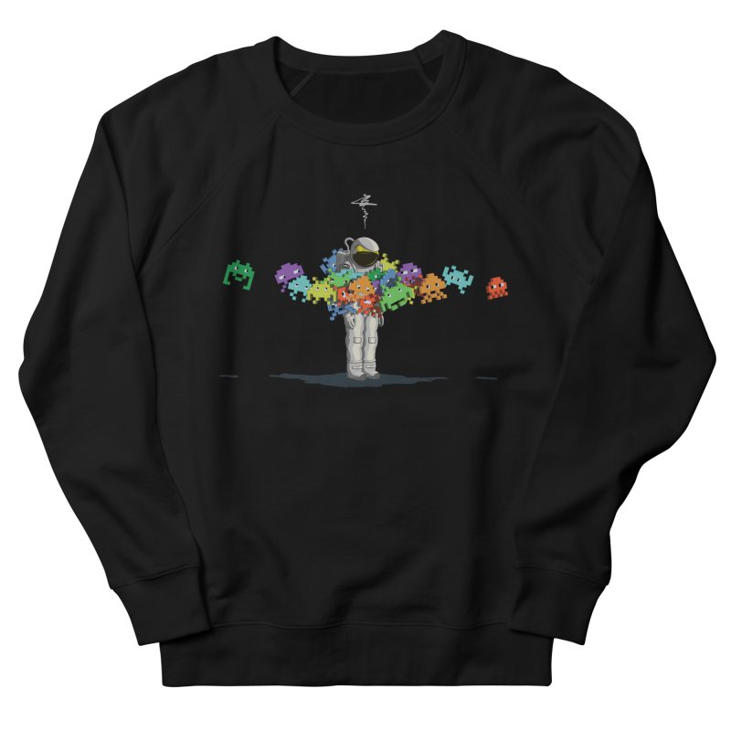 Personal Space Invaders Men's Sweatshirt by tristan's Artist Shop