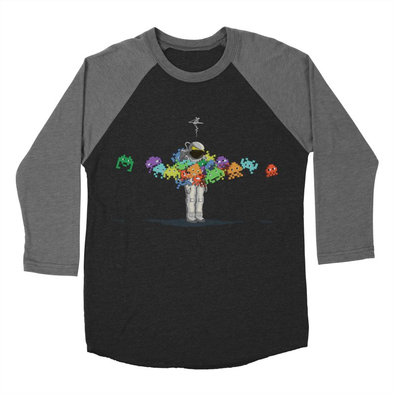 Personal Space Invaders Men's Baseball Triblend T-Shirt by tristan's Artist Shop