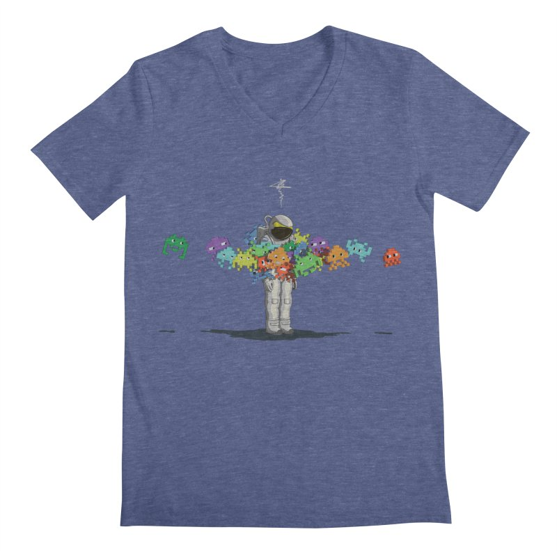 Personal Space Invaders Men's V-Neck by tristan's Artist Shop