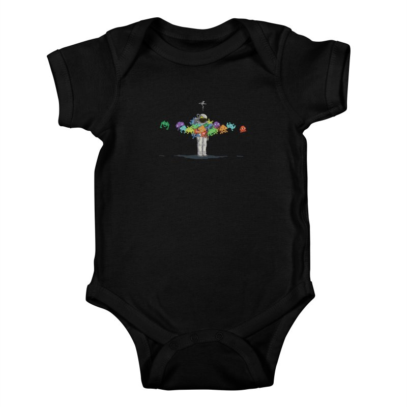 Personal Space Invaders Kids Baby Bodysuit by tristan's Artist Shop
