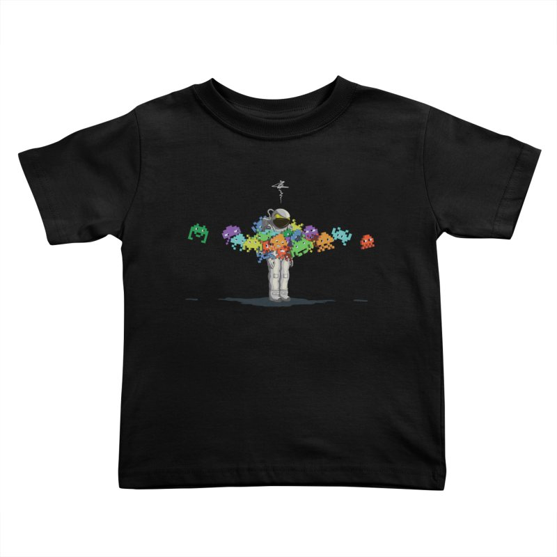 Personal Space Invaders Kids Toddler T-Shirt by tristan's Artist Shop
