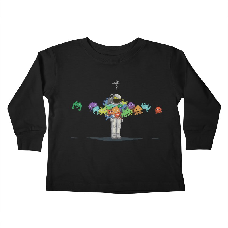 Personal Space Invaders Kids Toddler Longsleeve T-Shirt by tristan's Artist Shop