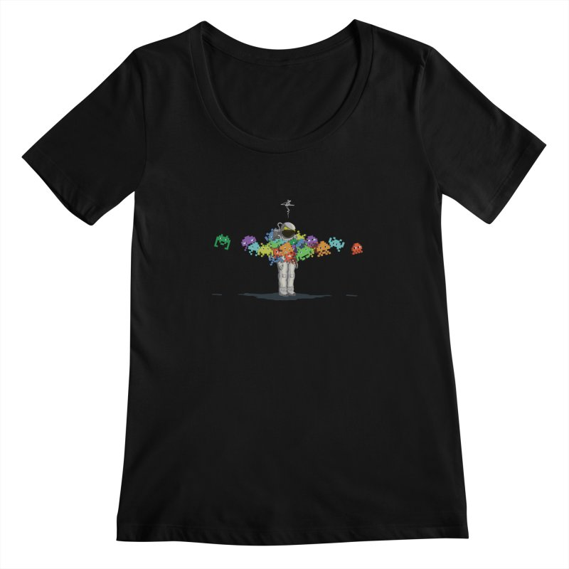 Personal Space Invaders Women's Scoopneck by tristan's Artist Shop