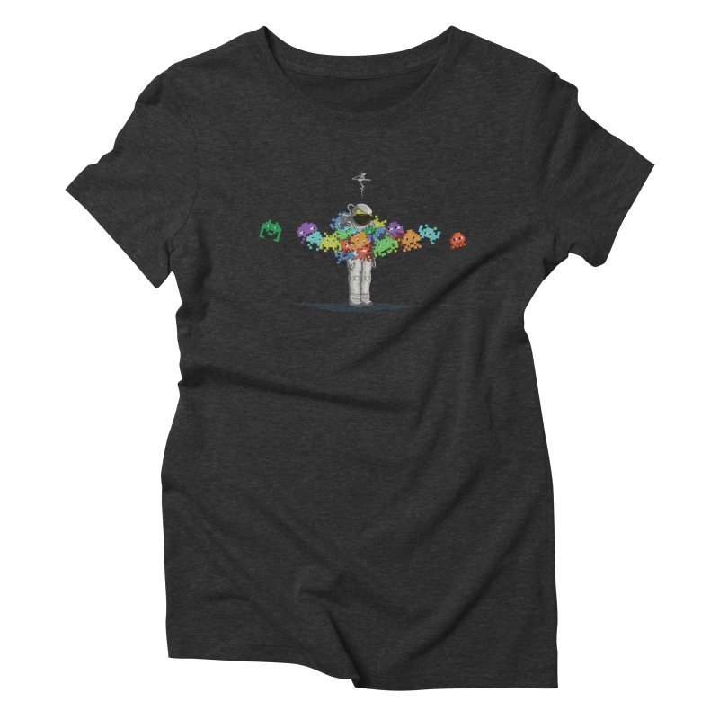 Personal Space Invaders Women's Triblend T-Shirt by tristan's Artist Shop