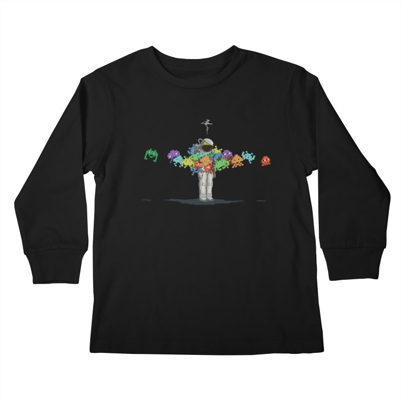 Personal Space Invaders Kids Longsleeve T-Shirt by tristan's Artist Shop