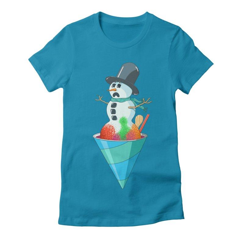 Worst Summer Job Ever Women's Fitted T-Shirt by tristan's Artist Shop