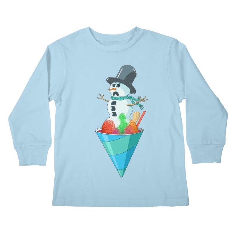 Worst Summer Job Ever Kids Longsleeve T-Shirt by tristan's Artist Shop