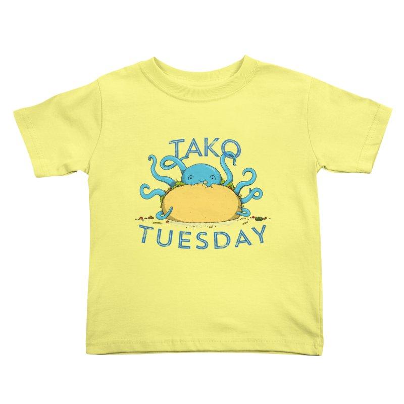 Tako Teusday Kids Toddler T-Shirt by tristan's Artist Shop