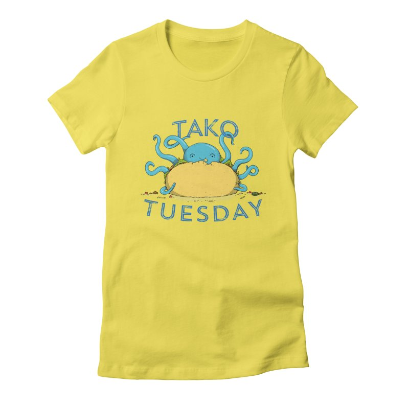 Tako Teusday Women's Fitted T-Shirt by tristan's Artist Shop