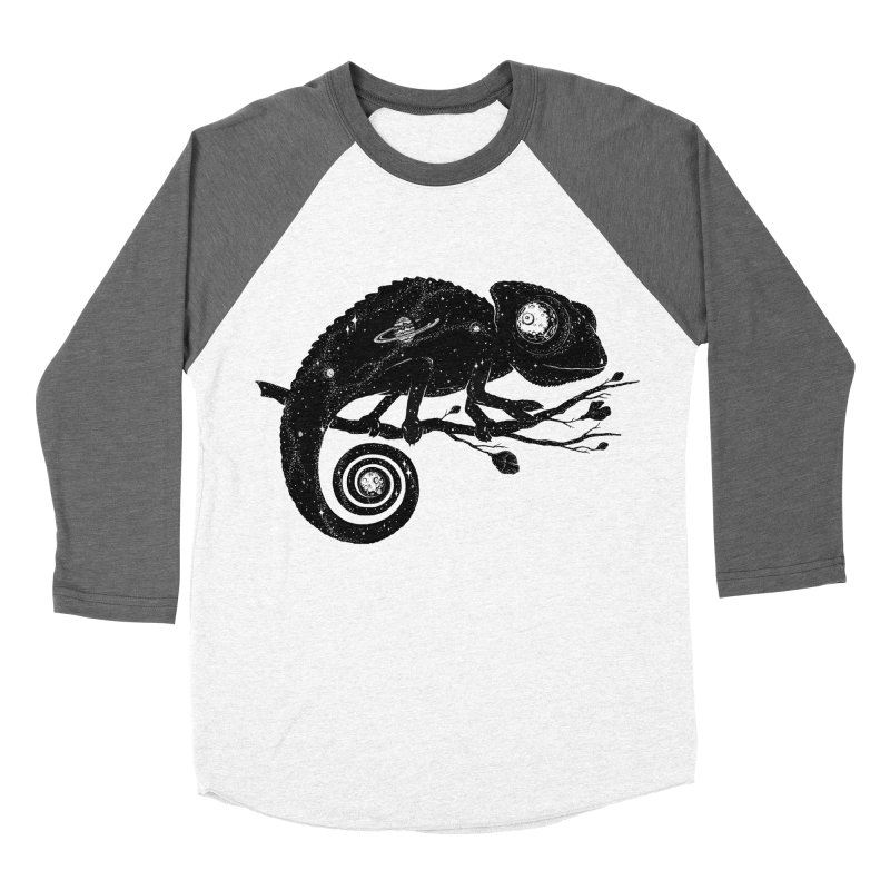 Cosmi-Chameleon Women's Baseball Triblend T-Shirt by Deep Space Designs