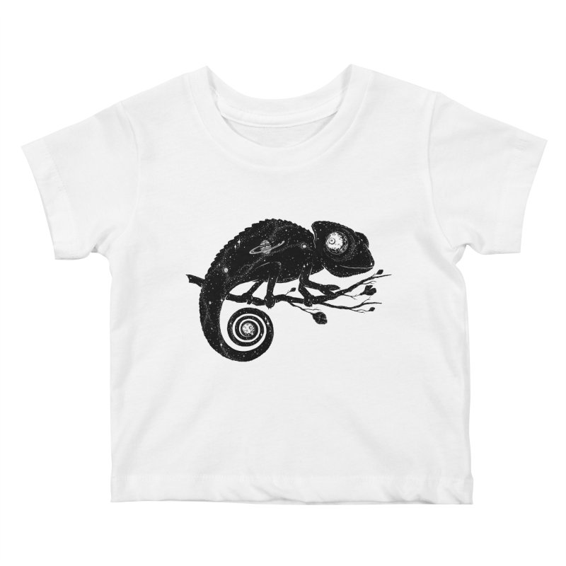 Cosmi-Chameleon Kids Baby T-Shirt by Deep Space Designs