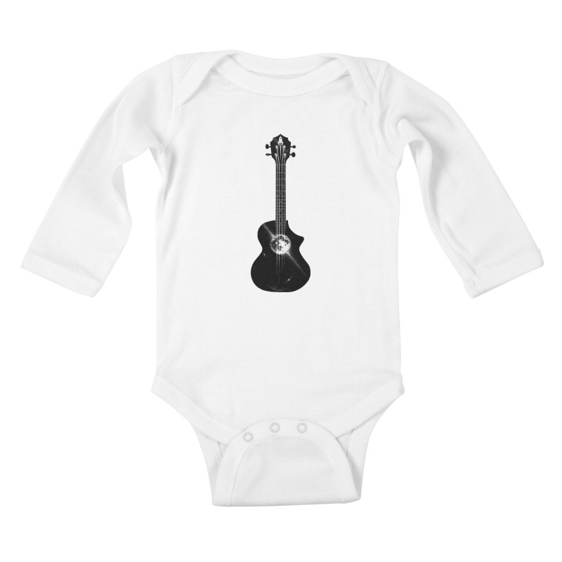 Melody Moon Kids Baby Longsleeve Bodysuit by Deep Space Designs