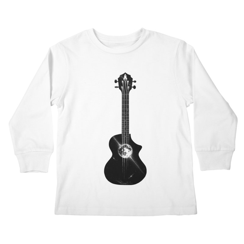 Melody Moon Kids Longsleeve T-Shirt by Deep Space Designs