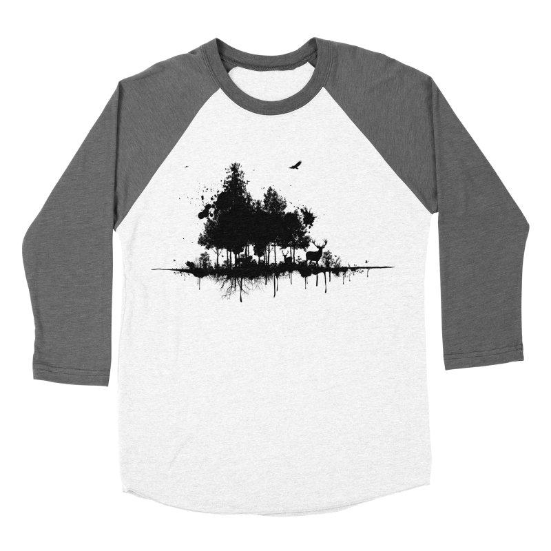 Natural Ink Women's Baseball Triblend T-Shirt by Deep Space Designs