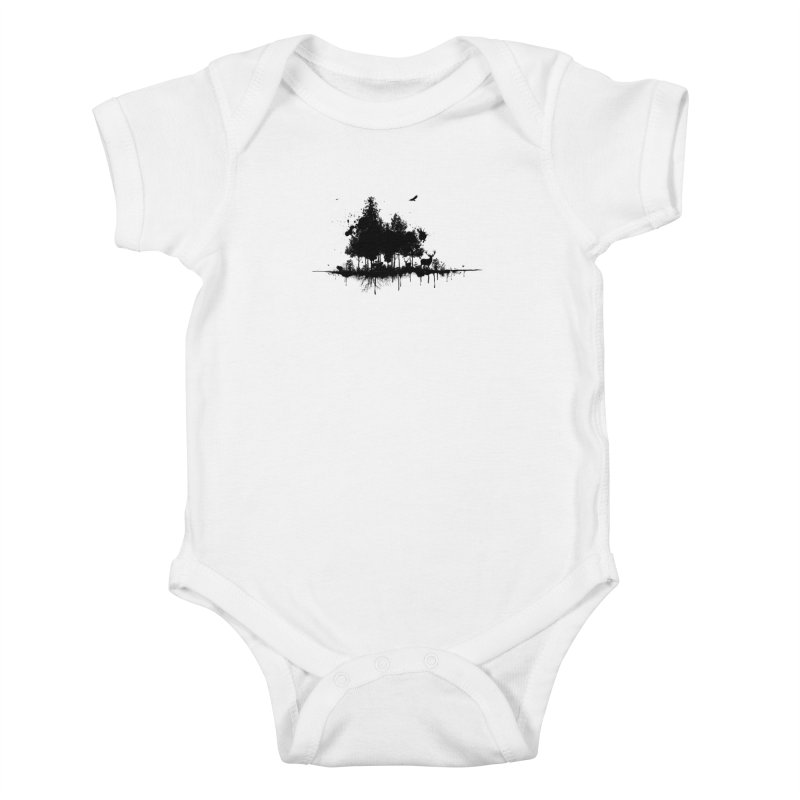 Natural Ink Kids Baby Bodysuit by Deep Space Designs