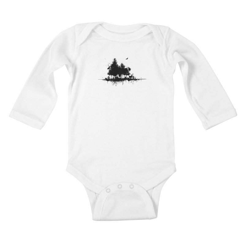 Natural Ink Kids Baby Longsleeve Bodysuit by Deep Space Designs
