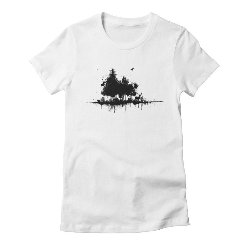 Natural Ink Women's Fitted T-Shirt by Deep Space Designs