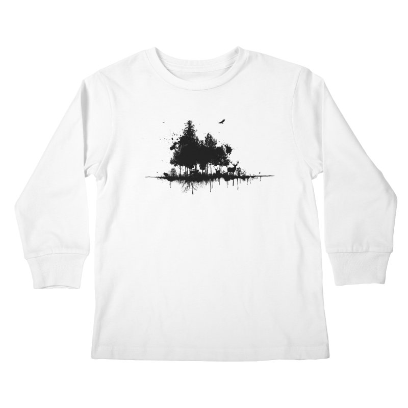 Natural Ink Kids Longsleeve T-Shirt by Deep Space Designs