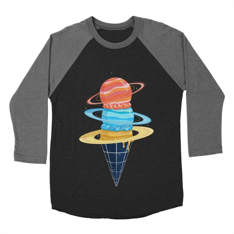 Space-Time Cone-Tinuum Men's Baseball Triblend T-Shirt by Deep Space Designs