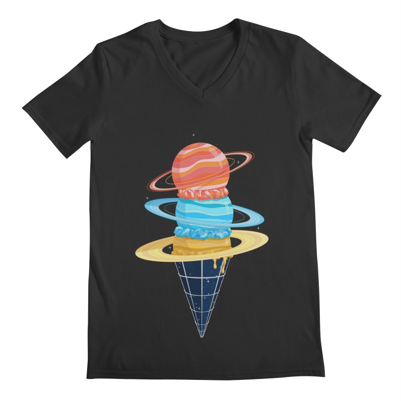 Space-Time Cone-Tinuum Men's V-Neck by Deep Space Designs