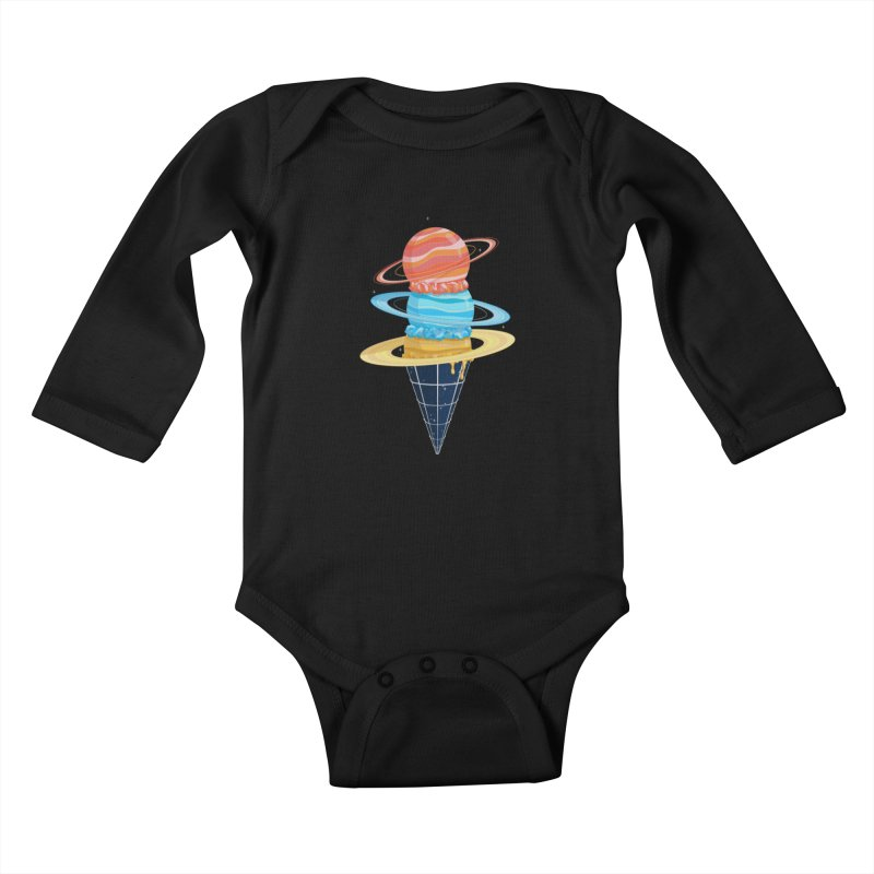 Space-Time Cone-Tinuum Kids Baby Longsleeve Bodysuit by Deep Space Designs