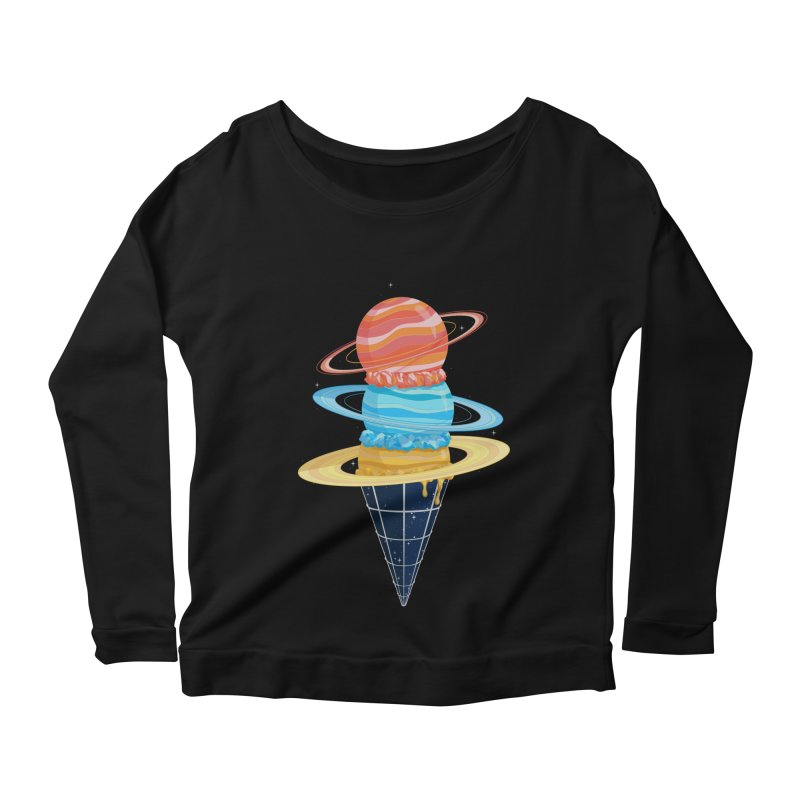 Space-Time Cone-Tinuum Women's Longsleeve Scoopneck  by Deep Space Designs