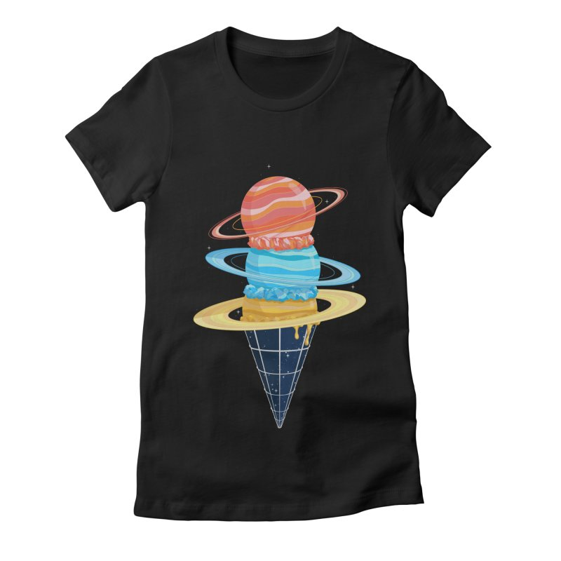 Space-Time Cone-Tinuum Women's Fitted T-Shirt by Deep Space Designs