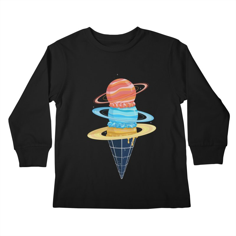 Space-Time Cone-Tinuum Kids Longsleeve T-Shirt by Deep Space Designs